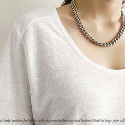 NANING9 - Linen Blend T-Shirt