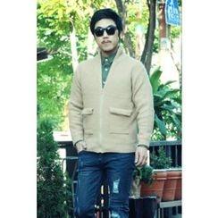 Ohkkage - Wool Blend Zip-Up Jacket