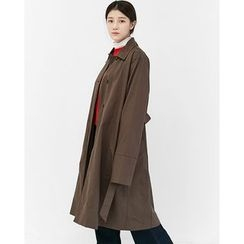 Someday, if - Single-Breasted Trench Coat with Sash