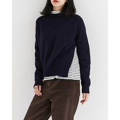 Someday, if - Slit-Side Wool Blend Sweater