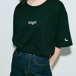 Shimi - 'Day' / 'Night' Print Crewneck T-Shirt