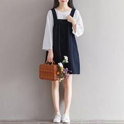 Emeline - Linen Jumper Dress