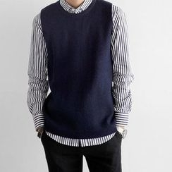 Seoul Homme - Round-Neck Knit Vest