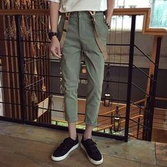 Jimboy - Cropped Pants with Suspender