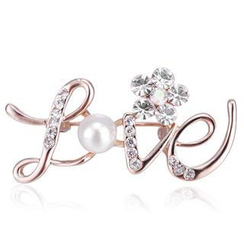 Best Jewellery - Crystal 'Love' Brooch