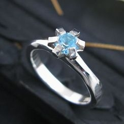 Sterlingworth - Blue Topaz Sterling Silver Ring