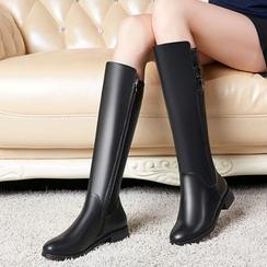 miindra - 粗跟高身靴