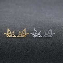 Love Generation - Metallic  Origami Crane Earrings