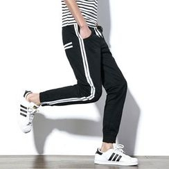 Besto - Striped Jogger Pants
