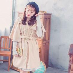 Tokyo Fashion - Tie-Waist Cape Coat