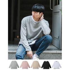 STYLEMAN - Long-Sleeve Round-Neck T-Shirt