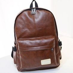 Sweet City - Faux-Leather Backpack
