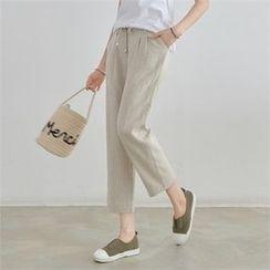 PEPER - Pintuck Straight-Cut Pants