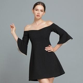 YiGelila - Off-Shoulder Ruffled A-Line Dress