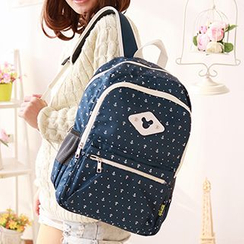 Canvas Love - Anchor Print Canvas Backpack
