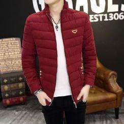 Keerme - Embroidered Padded Zip Jacket