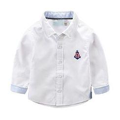 Kido - 儿童刺绣船锚衬衫