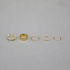 NANING9 - Set of 5: Metal Rings