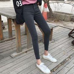 Dute - Raw Hem Skinny Jeans