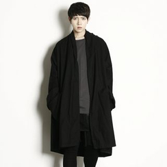 Rememberclick - Oversized Open-Front Trench Coat