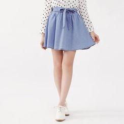 Tokyo Fashion - Tie-Waist Denim Skirt