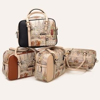 BeiBaoBao - Printed Buckled Satchel