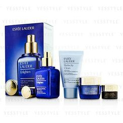 Estee Lauder 雅詩蘭黛 - Skintone/Spot Correction Set: Enlighten Serum 50ml + Creme 15ml + ANR Eye Complex II 5ml + Perfectly Clean 30ml
