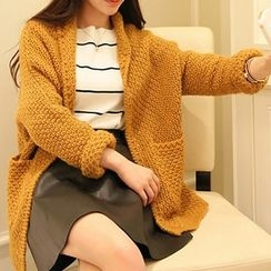 FR - Chunky Knit Shawl Collar Cardigan