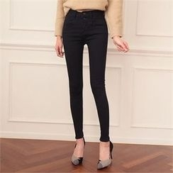 ode' - Button-Front Skinny Jeans