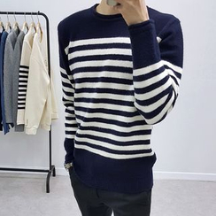 Seoul Homme - Furry Striped Sweater