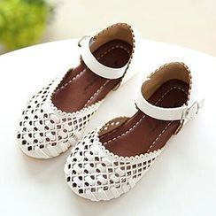 绿豆蛙童鞋 - 小童编织凉鞋
