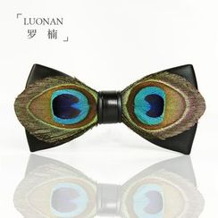 Luonan - Peacock Feather Bow Tie