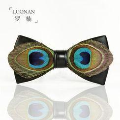 Luonan - 孔雀羽毛蝴蝶领带
