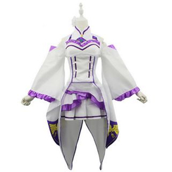 Cosgirl - Re:Zero Emilia Cosplay Costume