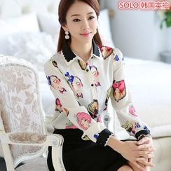 Lovebirds - Printed Chiffon Shirt