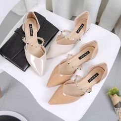QQ Trend - Studded Pointed Flats