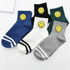 MITU - Smiley Face Print Socks