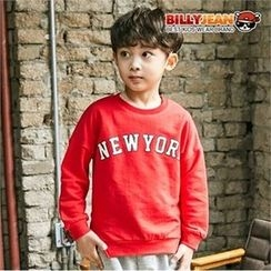 BILLY JEAN - Boys Slit-Hem Lettering Sweatshirt