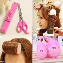 Dewy Kiss - Hair Rollers / Hair Cutting Scissors