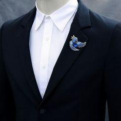 Trend Cool - Rhinestone Bird Brooch