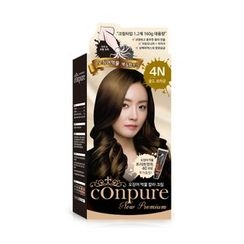 esfolio - Conpure Squid Ink Color Cream (#4N Gold Brown): Hairdye 80g + Oxidizing Agent 80g + Hair Treatment 40g