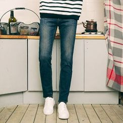 MEOSIDDA - Washed Slim-Fit Jeans