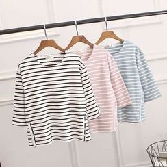 Tulander - 3/4-Sleeve Striped T-Shirt