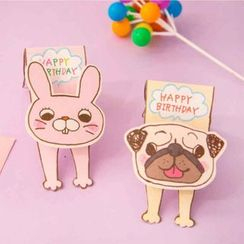 OH.LEELY - Animal Birthday Card