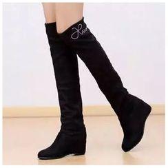 幸福鞋坊 - 內增高過膝長靴