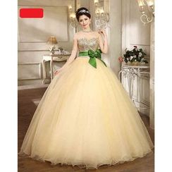 Caramelo - Embellished Sweetheart-Neckline Ball Gown
