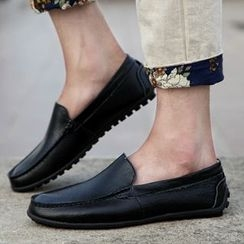 Shino - Genuine-Leather Couple Matching Loafers