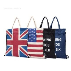 LISEN - Printed Drawstring Shopper Bag