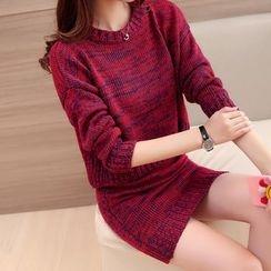 Ageha - Set : Melange Knit Top + Skirt