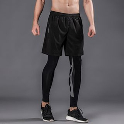 Accentum - Set: Sports Shorts + Tights